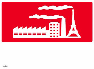 Complesso industriale con ciminiera tour Eiffel