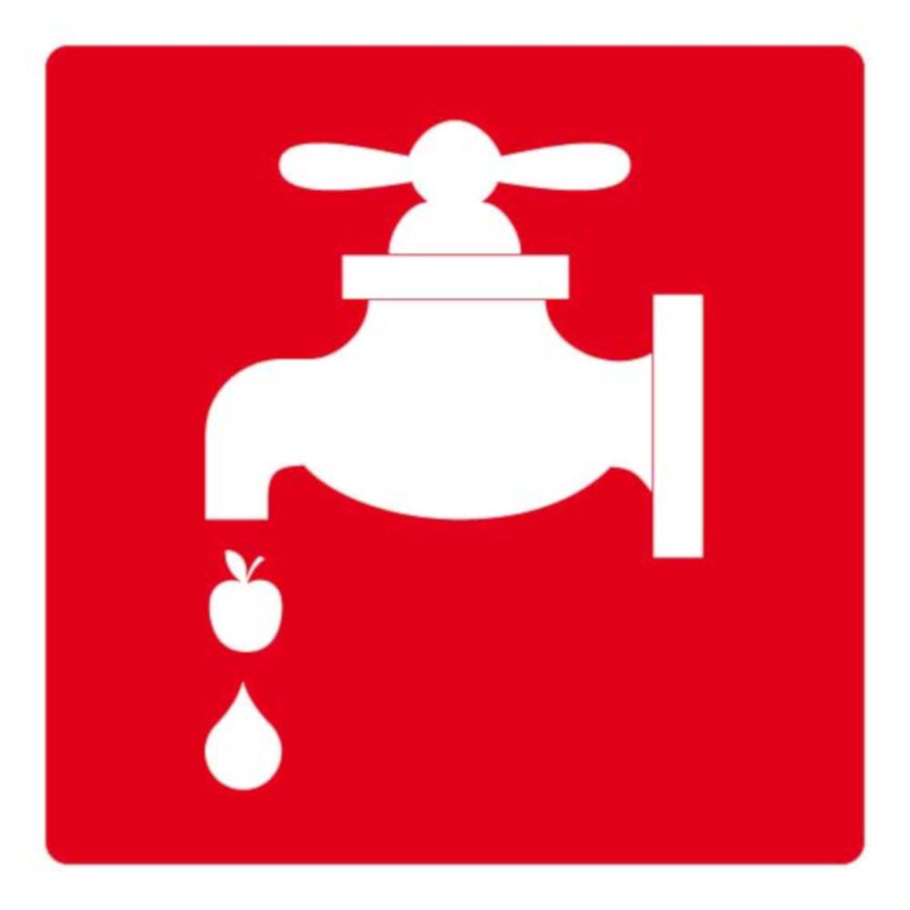 attenzione! rubinetto con mela