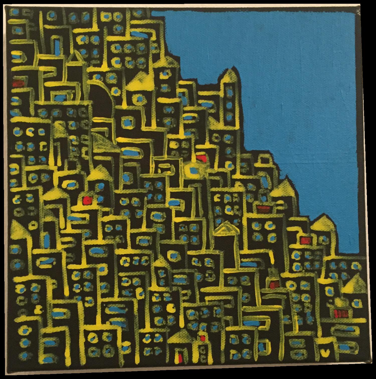 città stretta mare azzurro