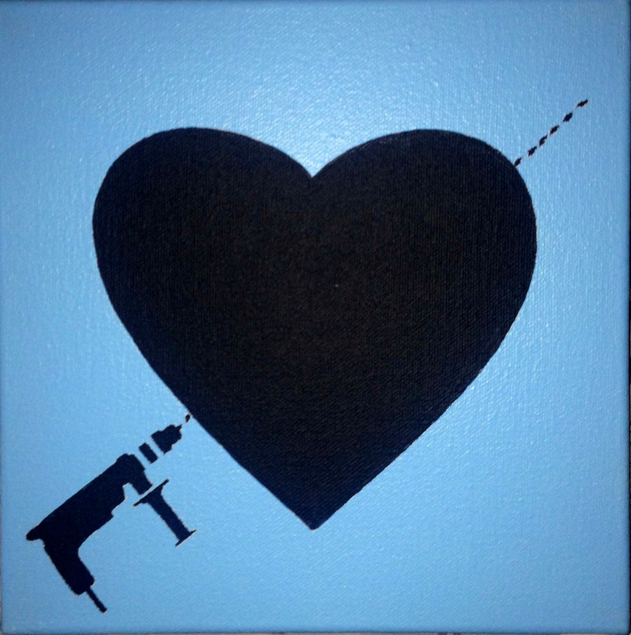 cuore con trapano