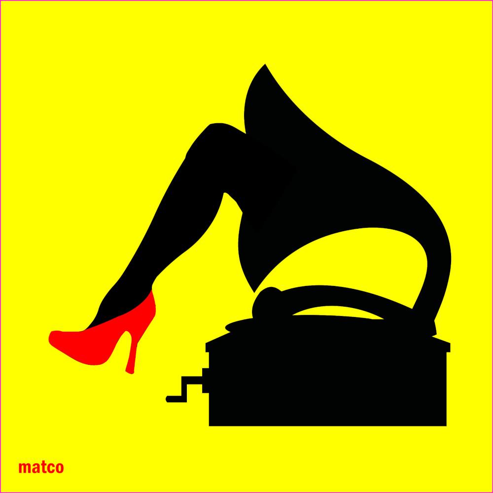 gamba in grammofono
