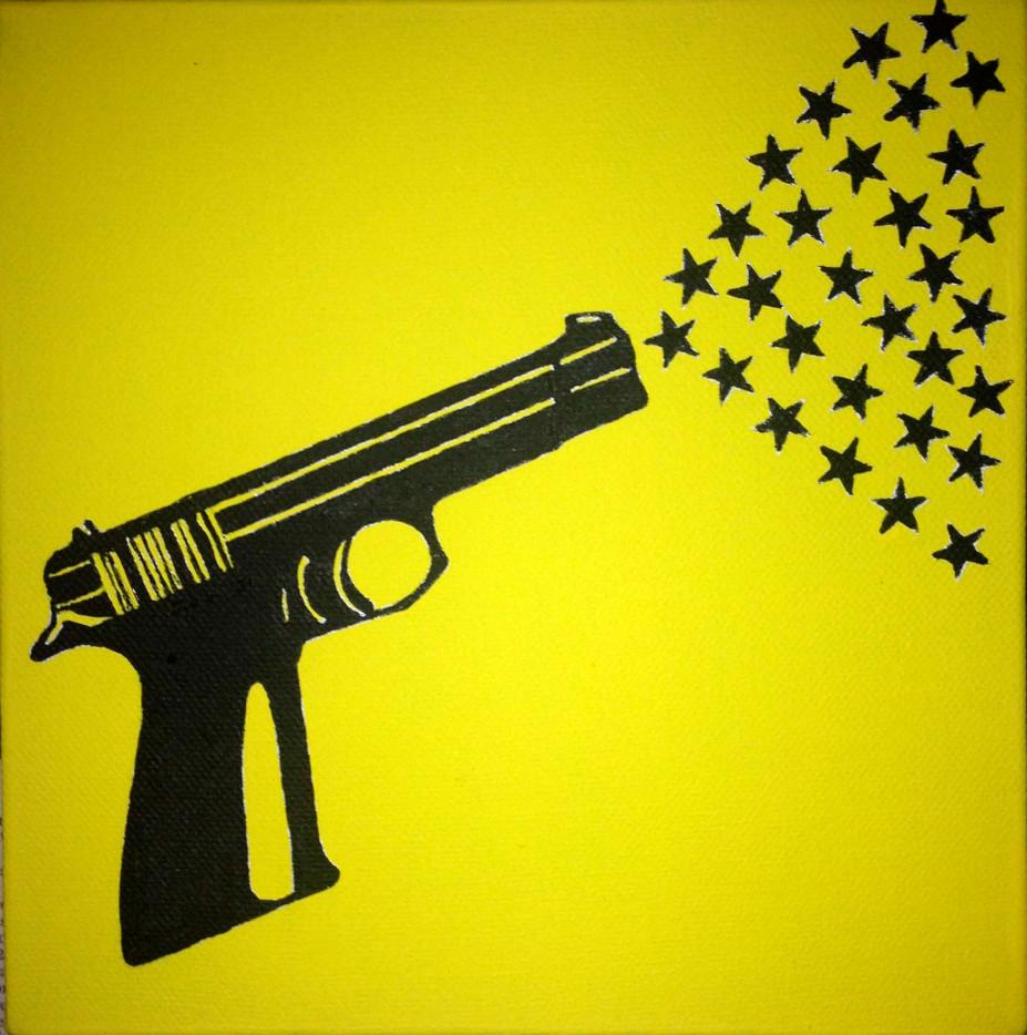 pistola con stelle